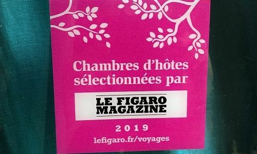 Chambres d'hôtes sélectionnées par le Figaro Magazine 2019